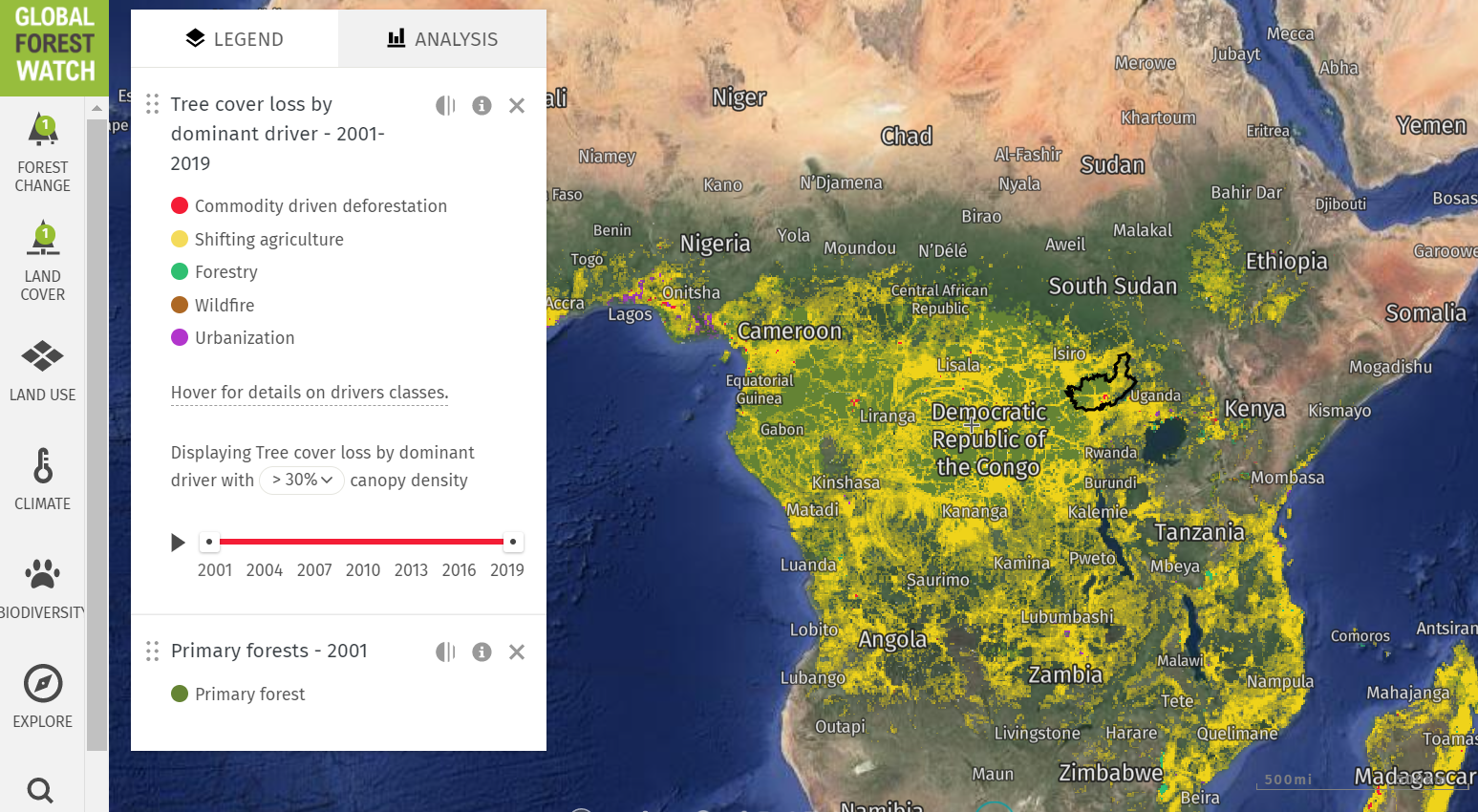 Deforestation in the DRC